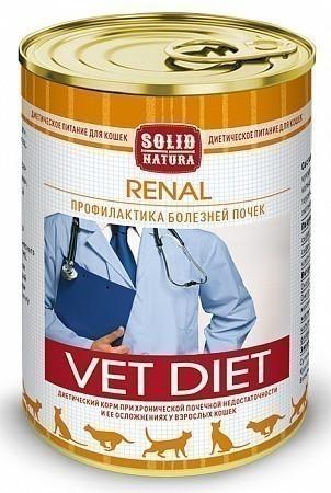 Консервы для кошек Solid Natura VET Renal, диета (340 г)