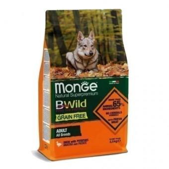 Сухой корм для собак Monge BWild Grain Free - Adult Anatra (беззерновой, 2,5 кг)