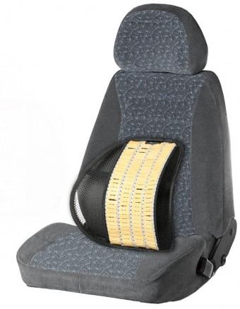 Подушка анатомическая для поддержки спины AirLine (с деревянными вставками)