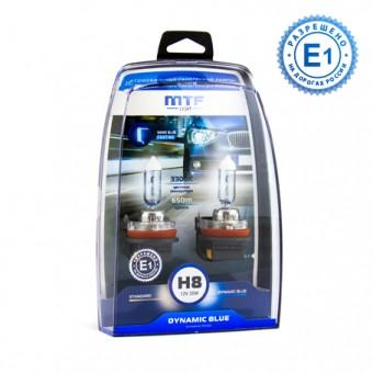 Лампы MTF Dynamic Blue H8 (12 V, 35 W, 2 шт)