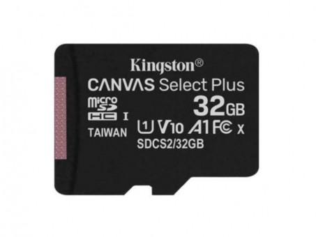 Карта памяти microSD Kingston Canv Select Plus 32 Gb (class 10, U1)