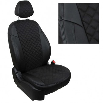 Чехлы Автопилот Nissan X-Trail (2013>) T32 - черные, алькантара, ромб
