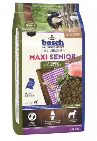 Сухой корм для собак Bosch Maxi Senior, птица и рис, 1 кг