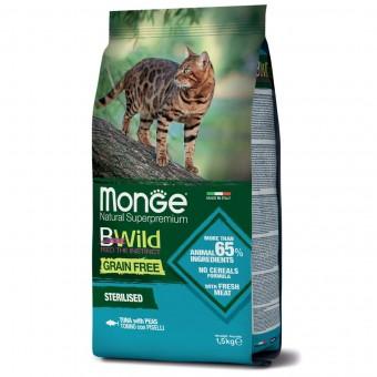 Сухой корм для кошек Monge BWild Grain Free - Sterilised Tonno (1,5 кг)