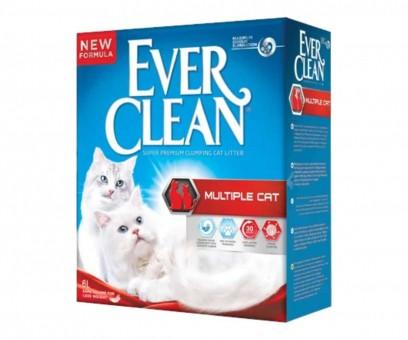 Наполнитель кошачьего туалета Ever Clean Multiple Cat (глиняный, 6,0 кг, 6 л, свежесть)