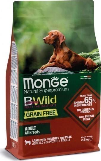 Сухой корм для собак Monge BWild Grain Free - Adult Agnello (беззерновой, 2,5 кг)
