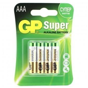 Батарейки AAA (LR03) GP Super (блистер, 4 шт)