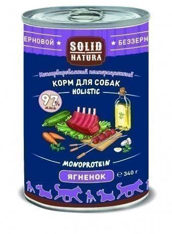 Консервы для собак Solid Natura Holistic, ягнёнок, 340 г