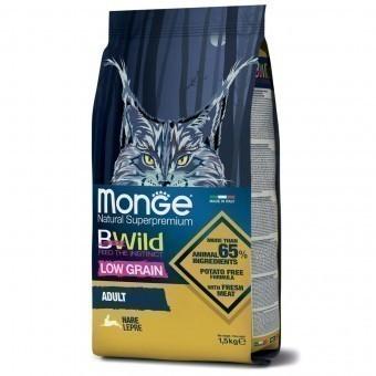 Сухой корм для кошек Monge BWild Low Grain - Adult Hare (1,5 кг)
