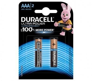 Батарейки AAA (LR03) Duracell Ultra Power (блистер, 2 шт)