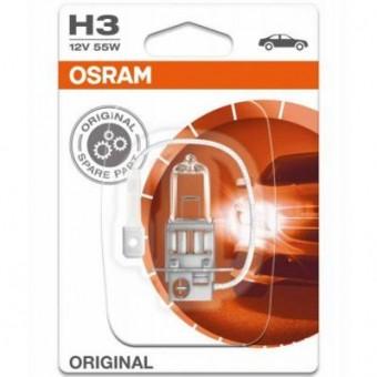 Лампа Osram H3 Original (12 В, 55 Вт, блистер)