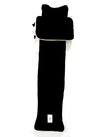 Накидка меховая иск. центр Автопилот (стриж/в, черная, перед, 1шт)