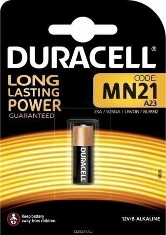 Батарейка A23 (MN21) Duracell Security (блистер, 1 шт)
