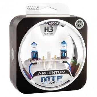 Лампы MTF Argentum +80% H3 (12 V, 55 W, 2 шт)