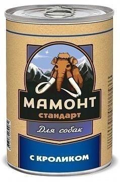 Консервы для собак Мамонт Стандарт, кролик (970 г)