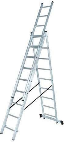 Лестница алюминиевая трёхсекционная Вихрь ЛА 3х9