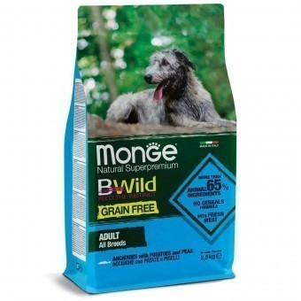 Сухой корм для собак Monge BWild Grain Free - Adult Acciughe (беззерновой, 2,5 кг)