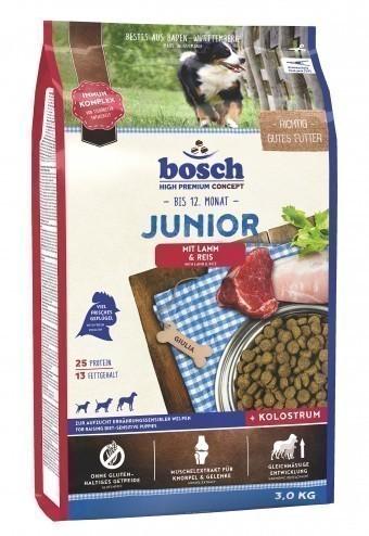 Сухой корм для собак Bosch Junior, ягнёнок и рис, 3 кг