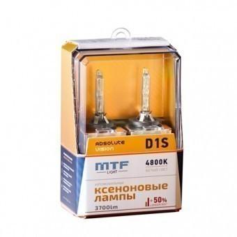 Ксеноновые лампы MTF Absolute Vision D1S 4800K (+50%, 2 шт)