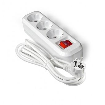 Удлинитель Универсал Premium S-303 (3 гн, 2 м, ПВС 3х1, с/з, выкл.)