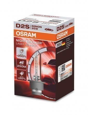 Ксеноновая лампа Osram D2S Xenarc Night Breaker Laser 4500K (+200%)