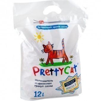 Наполнитель кошачьего туалета Pretty Cat Wood Granules (древесный, 4,0 кг, 12 л, без запаха)