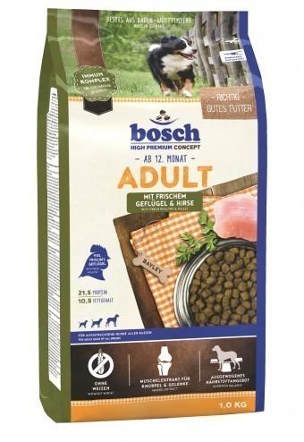 Сухой корм для собак Bosch Adult, птица и просо, 1 кг