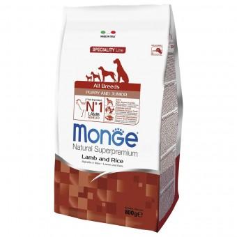 Сухой корм для щенков Monge Specialty Line - Puppy & Junior Lamb (0,8 кг)