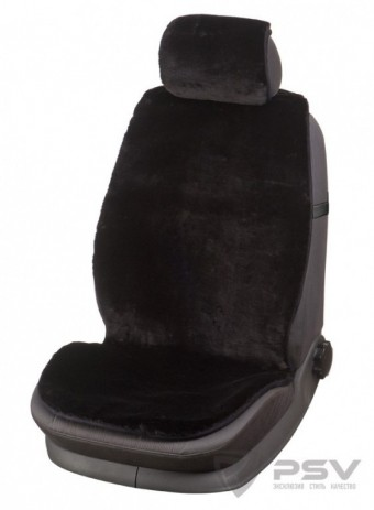 Накидка PSV Jolly Wool 118х55 / 25х32 черная 1шт. (из овечьей шерсти)