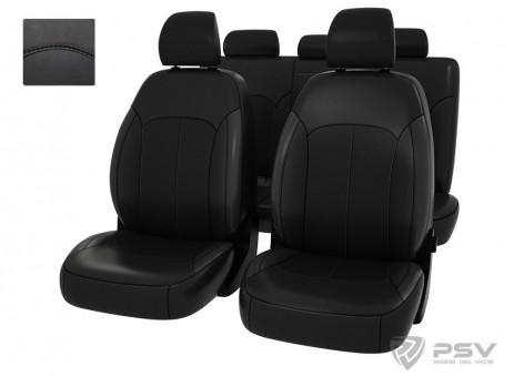 """Чехлы  Hyundai Elantra VI 2015-> черный/отстрочка черная, экокожа """"Оригинал"""""""