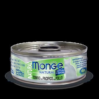 Консервы для кошек Monge Natural - Tonno del Pacifico con Pollo (80 г)