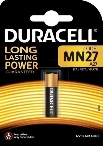 Батарейка A27 (MN27) Duracell Security (блистер, 1 шт)