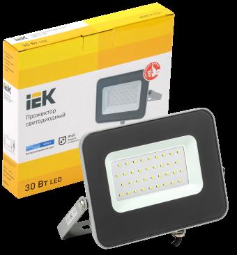 Прожектор светодиодный IEK СДО-07-30 (6500К, 30Вт, 2700Лм, серый)