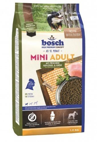 Сухой корм для собак Bosch Mini Adult, птица и просо, 1 кг