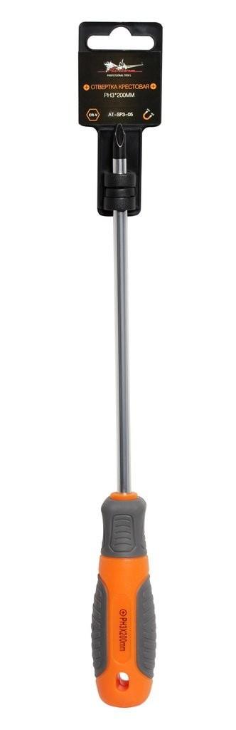 Отвертка крестовая AirLine PH3, 200 мм