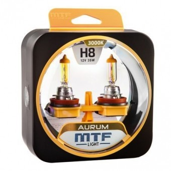 Лампы MTF Aurum H8 (12v, 35w, HA3638, 2шт.)