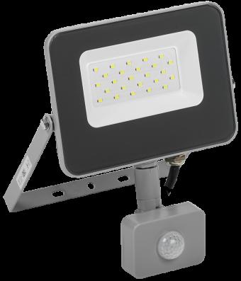 Прожектор светодиодный IEK СДО-07-20Д (6500К, 20Вт, 1800Лм, серый, д/движения)