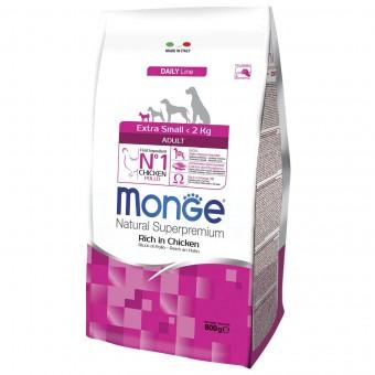 Сухой корм для собак Monge Daily Line - Extra Small Adult (0,8 кг)