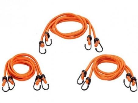 Стяжки-резинки AirLine 6 шт (2х60 см, 2x100 см, 2x120 см, метал. крючки)