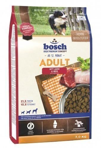 Сухой корм для собак Bosch Adult, ягнёнок и рис, 3 кг