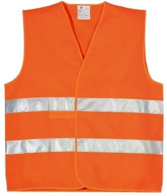 Жилет сигнальный (оранжевый, ГОСТ Р12.4.281)