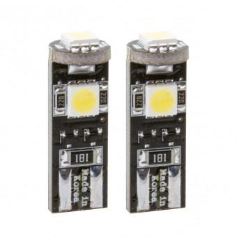 Светодиодные лампы MTF CAN-BUS T10 (5000К, с обманкой, 2 шт)