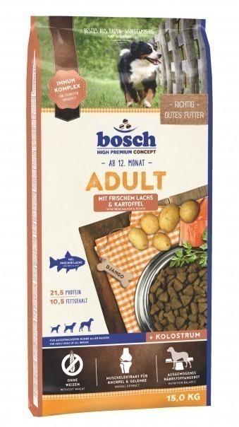 Сухой корм для собак Bosch Adult, лосось и картофель, 15 кг