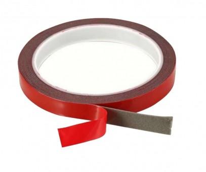 Скотч двусторонний силиконовый 12х200 мм (серый, усиленный)