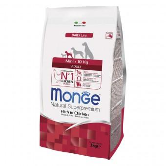 Сухой корм для собак Monge Daily Line - Mini Adult (3 кг)