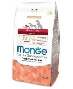 Сухой корм для собак Monge Specialty Line - Mini Adult Salmone (0,8 кг)