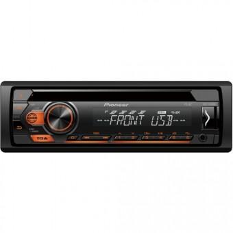 CD/MP3-ресивер Pioneer DEH-S110UBA CD,MP3,USB,FLAC, оранжевая подсветка кнопок
