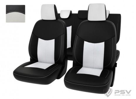 """Чехлы Ford EcoSport 2014-> черно-белая экокожа """"Оригинал"""""""