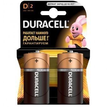 Батарейки D (LR20) Duracell Basic (блистер, 2 шт)