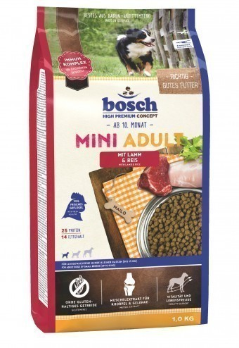 Сухой корм для собак Bosch Mini Adult, ягненок и рис, 1 кг